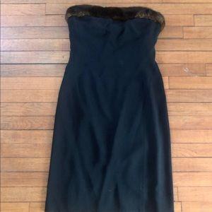 Lauren by Ralph Lauren Dress with Faux Fur Size 10